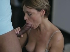 Short hair MILF drilled by BBC