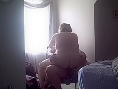 Morning time 10-Pounder riding session of my beloved large captivating woman wife