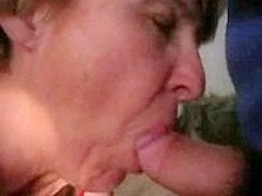 Some old chick sucking my dick