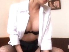 lara brookes is stimulating katie's pussy with a purple vibrator and enjoying doing it every ti