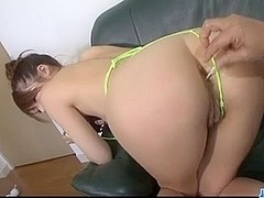 Sweet Arisa Aoyama enjoys warm finger fucking show