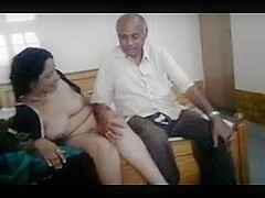 Hot desi milf with oldman
