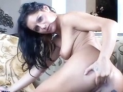 Ariana Jollee Double Penetrates Herself