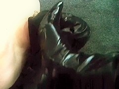 black pvc boots face trample and kicking