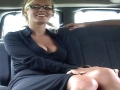 Sexual lady Renee swallows a dick in the stranger's car