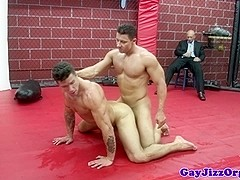 Phenix Saint and pals wrestle and suck