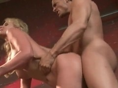 Busty blonde bitch Phoenix Marie gets fucked hard on a bike