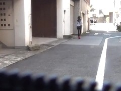 Bizarre asian piss street