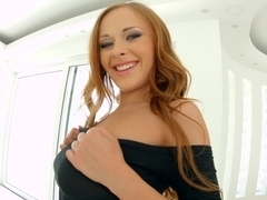 Givemepink Katarina Muti inserts toys in her butt while pleasuring her pussy with a vibrator