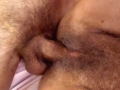 Blonde mature woman feels penis in snatch