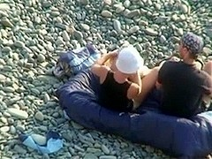 Voyeur on public beach. Oral Sex sex