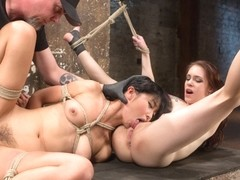 Anna De Ville & Marica Hase & The Pope in 2 Whores In Predicament Bondage, Tormented And Made To L.