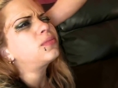 Autumn Foxx Latina Gags On Large Cock