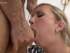 Blondi nasty Mandy's first anal adventure