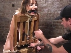 Charlotte Cross & The Pope in Charlotte's Caught In A Web Of Bondage And Tormented - HogTied