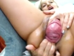 SLOWED - Huge Prolapsed Pussy