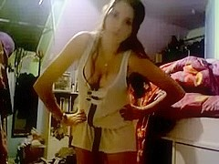one more curly legal age teenager on web camera