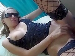 Amateur sex on hotel balcony