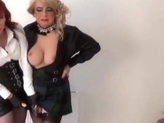 Angelique pegged against the wall by Madame C