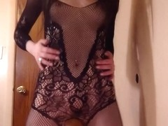 Sexy Bodystocking Lingerie Tease - Liz Lovejoy