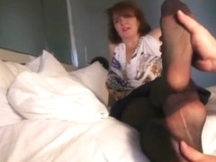 older woman pantyhose feet soles