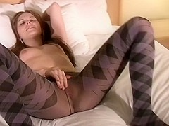Hottest masturbation record with solo girl, stockings scenes