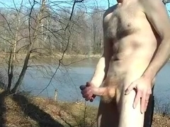 Public Park Jack Off by the Lake