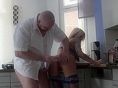 Sexy Blonde MILF Loves to Swallow Cum and fuck