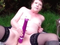 Mature 36AA Sluts Saucy Strip  Public Masturbation
