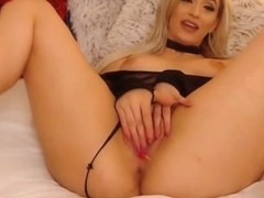 Busty Blonde in a Hot Dildo Play