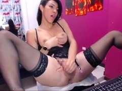 Sexy shemale strokes and cum