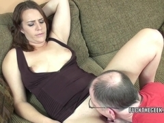 Dark Brown coed Alisha Adams receives drilled by a fortunate geek