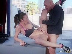 Big Tits In Sports: Cooling Off With A Hot Fuck. Tiffany Tyler, Johnny Sins