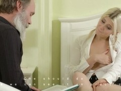 Gabby in Gabby fucks her tutor in her own bedroom - TrickyOldTeacher