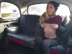 Angel Emily & Michael Fly in Petite French Babe Loves Czech Dick - FakeTaxi