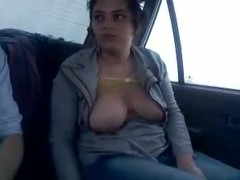 Iranian fuckking in the car