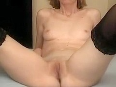 Skinny MILF Takes A Small Load