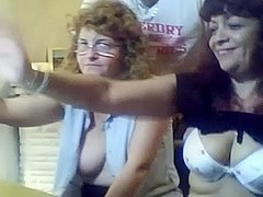two mature swingers couples play on web camera with each other