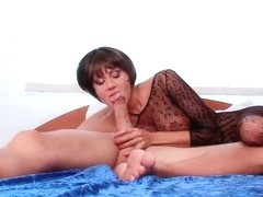 Hot brunettes anal in body stocking