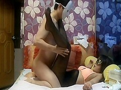 asian masked slut taking it on home vid