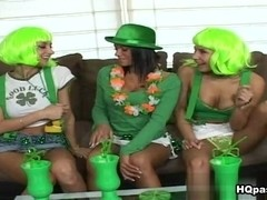 Nikki, Sammie Rhodes, Devi Emmerson in Luck Of The Irish Movie