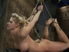 Local fitness model suffers the most horrific, painful bondage suspension there is.CATEGORY 5