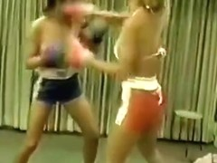 Cal Supreme Jackie vs Sandy topless boxing