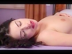 British slut Ava gets fucked on the bed in hold-ups