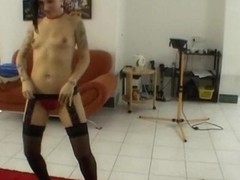 Rebel chick doing gorgeous lapdance