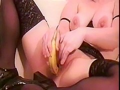 wife fucks banana