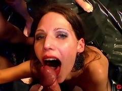 Incredible pornstar in Horny Stockings, Group sex porn video