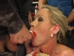 Creaming Pie: Mrs. S gets her MILF holes banged by her son's friends!
