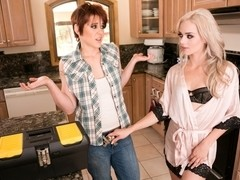 Elsa Jean & Lily Cade in The Plumber: Part One Video