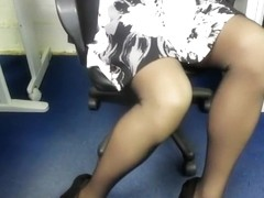 Provocative co-worker has the sexiest legs in the office